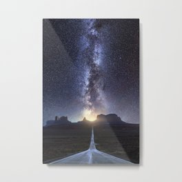 Monument Valley Milky Way Metal Print