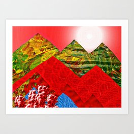 Colorful Peaks Art Print
