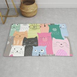 Cute Cat Pattern Rug