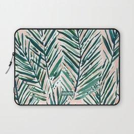 SUNSET PALMS Blush Tropical Print Laptop Sleeve