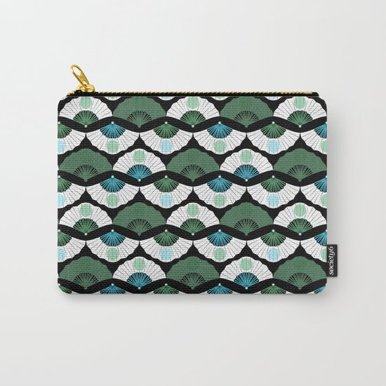 Green Vintage Carry-All Pouch