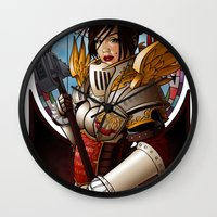 justice Wall Clocks featuring Justice by Scott McCauley