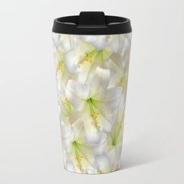 Cotton Seed Lilies Travel Mug