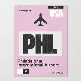 PHL Philadelphia airport code Canvas Print