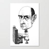 arnold Canvas Prints featuring Arnold Schoenberg by Gareth Southwell