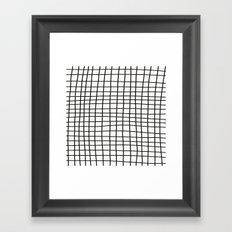 Handdrawn Grid Framed Art Print