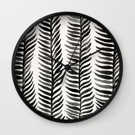 Black Seaweed Wall Clock