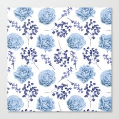 Sky Blue Roses Canvas Print