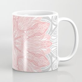 MANDALA IN GREY AND PINK Kaffeebecher