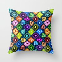 geode Throw Pillows featuring Geode Delight! by Sylvie Heasman