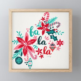 Fa La La Bouquet – White Framed Mini Art Print