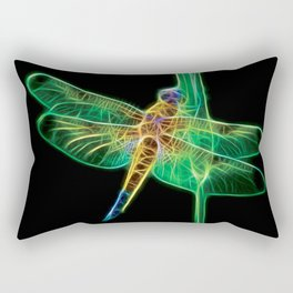 Dragonfly Fractal Rectangular Pillow