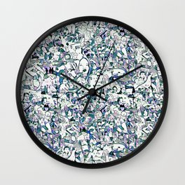 Crowd - Ice Wall Clock