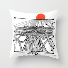 the Roads Throw Pillow