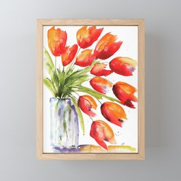 Tulips Overflowing Framed Mini Art Print