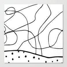 lines & dots Canvas Print