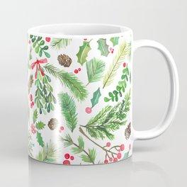 Lovely Christmas Greenery Coffee Mug
