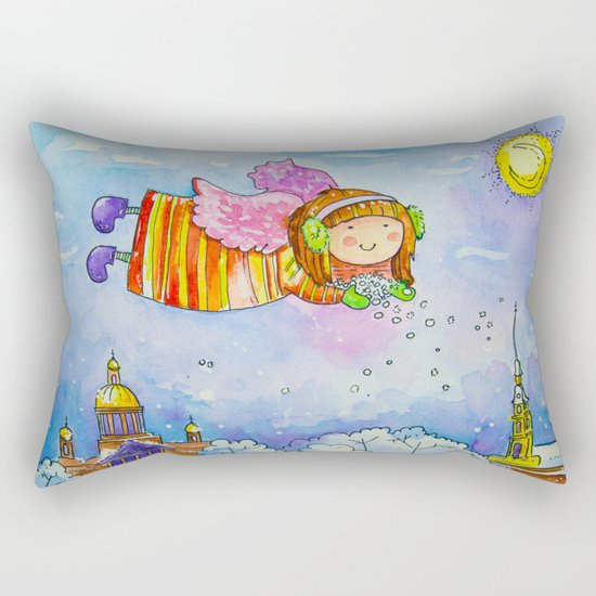 snow angel Rectangular Pillow