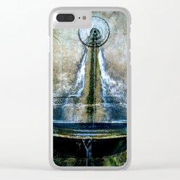 Fountain Bleu Clear iPhone Case
