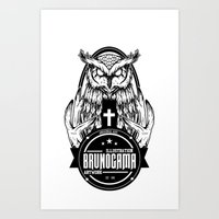 Black Owl Art Print