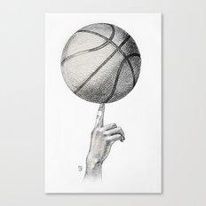 Basketball spin Canvas Print