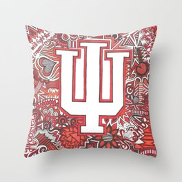 Indiana University for Kimberly Throw Pillow