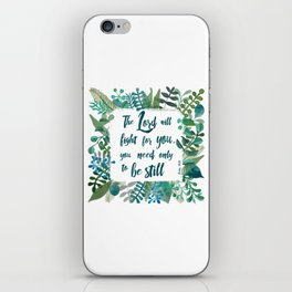 Exodus 14:14 iPhone Skin