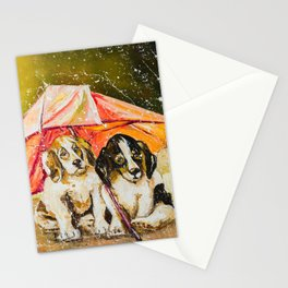 LOST IN THE RAIN Stationery Cards