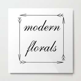 Modern Florals and Arrows Metal Print