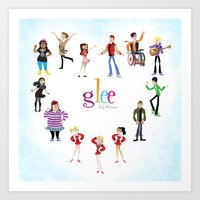 glee Art Prints featuring Glee: Season 2 by Tunasammiches