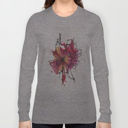 Pink and yellow Flower Explosion  Long Sleeve T-shirt