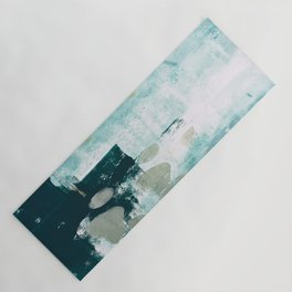 023.2: a vibrant abstract design in teal green and yellow by Alyssa Hamilton Art  Yoga Mat