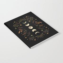 Moonlight Garden - Winter Brown Notebook