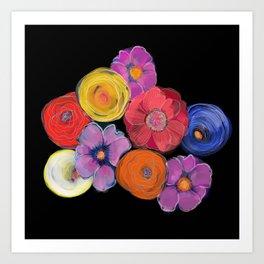 Big blooms in big colour Art Print