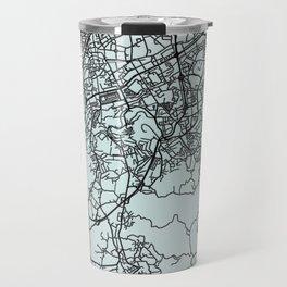 Braga, Portugal, White, City, Map Travel Mug
