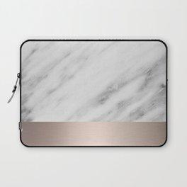 Carrara Italian Marble Holiday White Gold Edition Laptop Sleeve