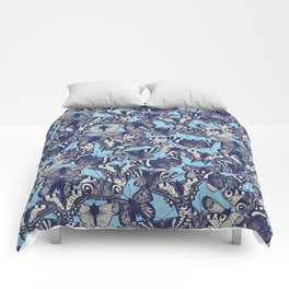 butterfly blue Comforters