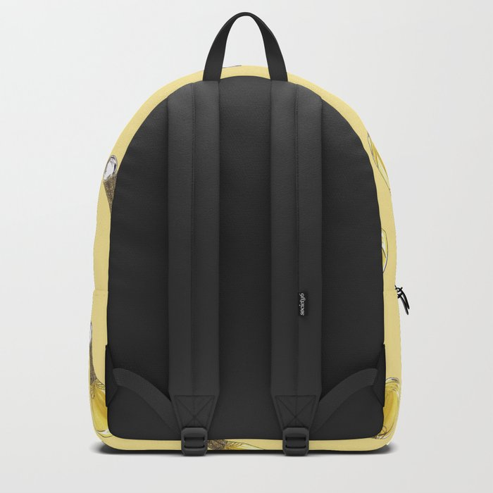 J'adore on Yellow Backpack