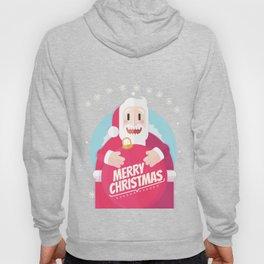 Santa christmas card - sky Hoody