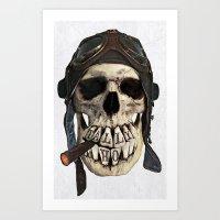 TALLY HO  (skull series 2 of 3) Art Print