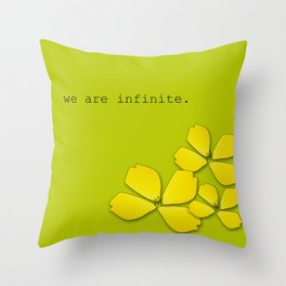the perks of being a wallflower :: stephen chbosky Throw Pillow