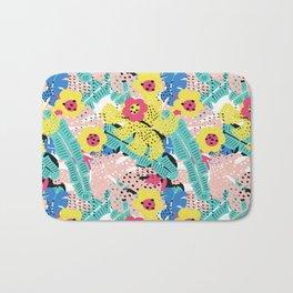 Tropical floral pattern Bath Mat