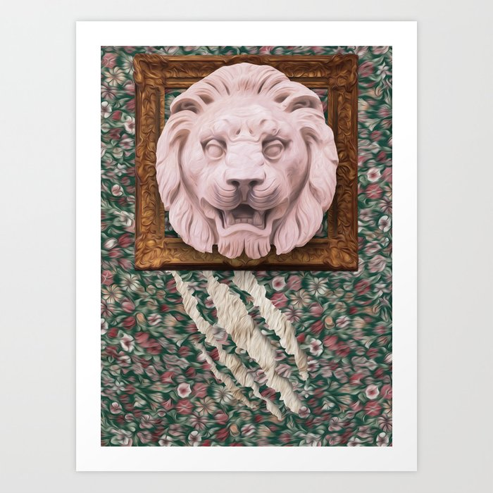 Lion Hunter Art Print