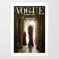 VOGUE INDIA Art Print