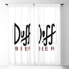 Duff Beer Logo Black Blackout Curtain
