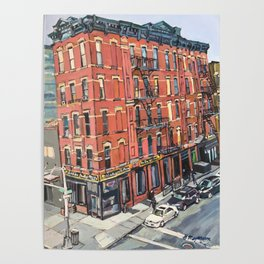 View of 17th Street From the High Line Poster
