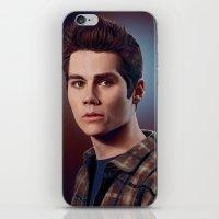 stiles stilinski iPhone & iPod Skins featuring Stiles Stilinski / Dylan O'Brien by theconsy