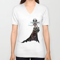 witch V-neck T-shirts featuring Witch by Samera Tseng