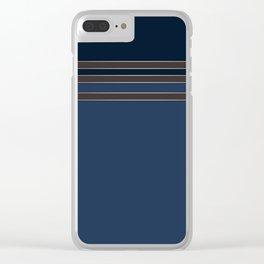 Dark blue combo pattern Clear iPhone Case