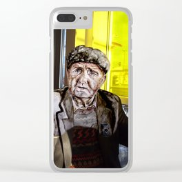 AUGUST between worlds Clear iPhone Case